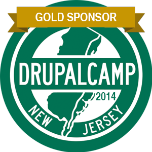 DrupalCamp NJ Gold Sponsor Badge